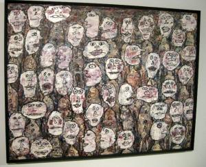"""Art:  Jean Dubuffet """"Affluence"""" (Attendance) 1961"""